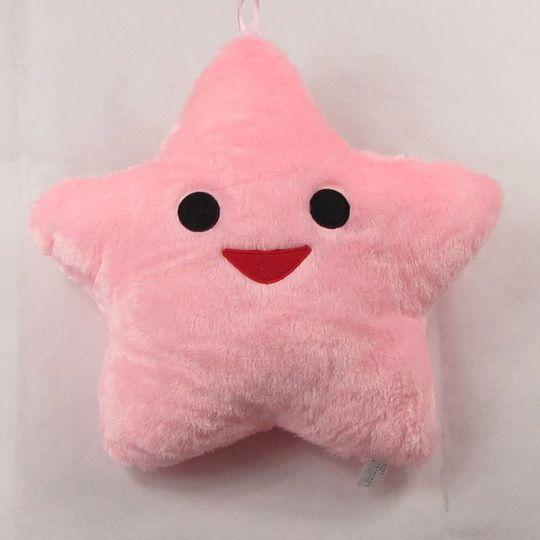 Светящаяся подушка Звездочка Розовая