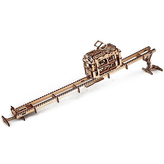 Механический 3D Пазл Ugears Трамвай Рельсовая дорога на ножках