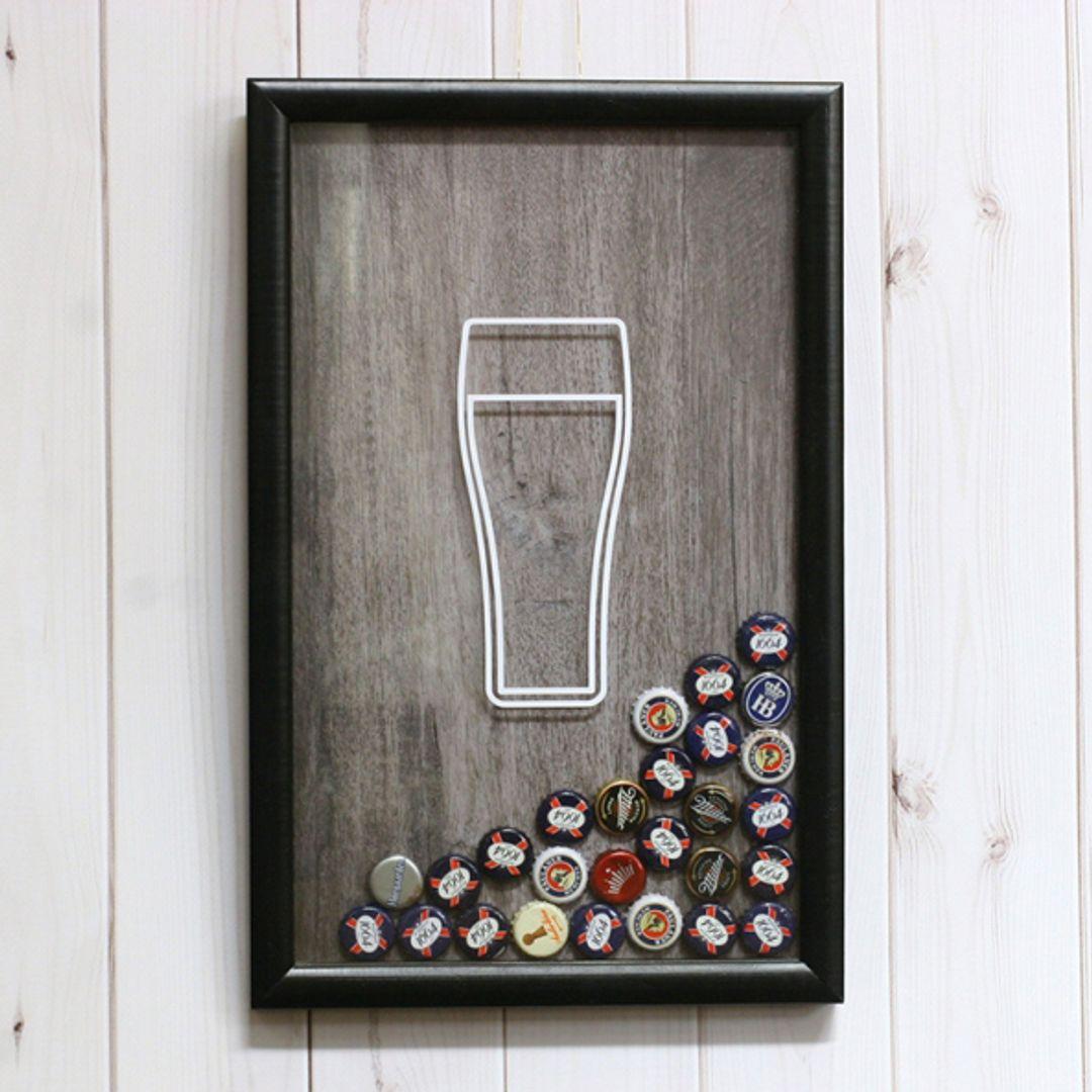 Копилка для пивных крышек и пробок Beer time