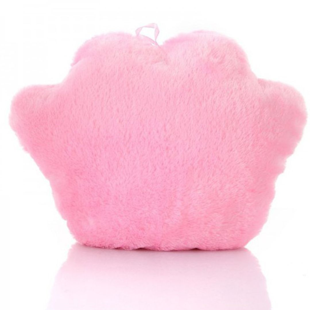 Светящаяся подушка Лапа (Розовая с белым) Обратная сторона