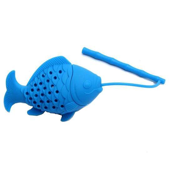 Заварник для чая Рыбка (Голубой)