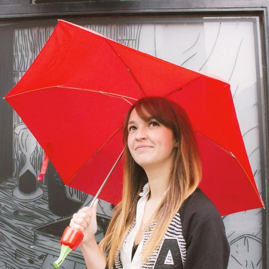 Зонт Перец (Красный) Открытый