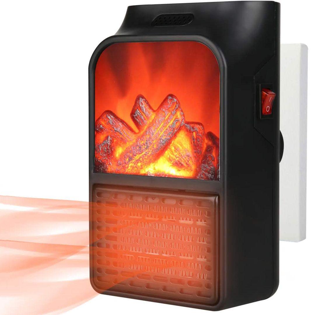 Портативный мини-обогреватель с пультом Flame Heater