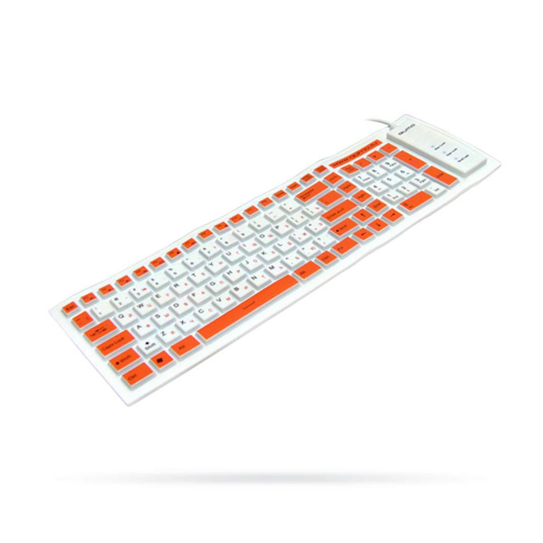 Гибкая резиновая клавиатура Белая
