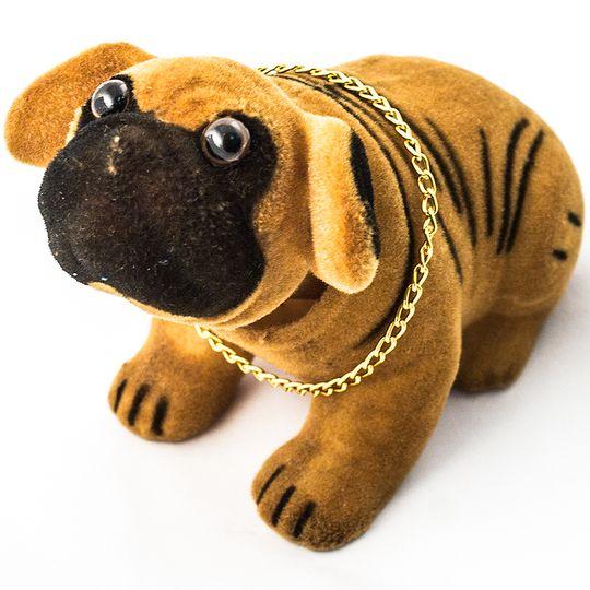Кивающая собачка Бульдог (Рыжий)