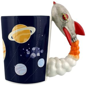 Кружка Ракета Rocket Launch Cartoon Cup