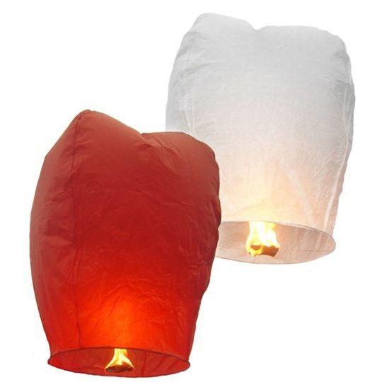 Летающий фонарик (Красный и белый)