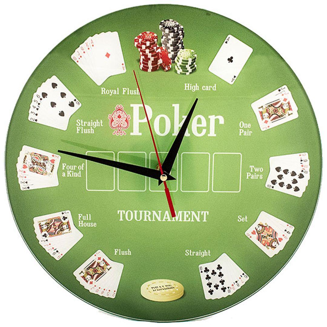 Часы настенные Покер