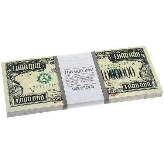Пачка банкнот в миллион долларов США каждая