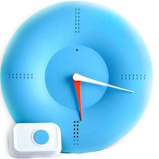Часы Дверной звонок (Голубой)