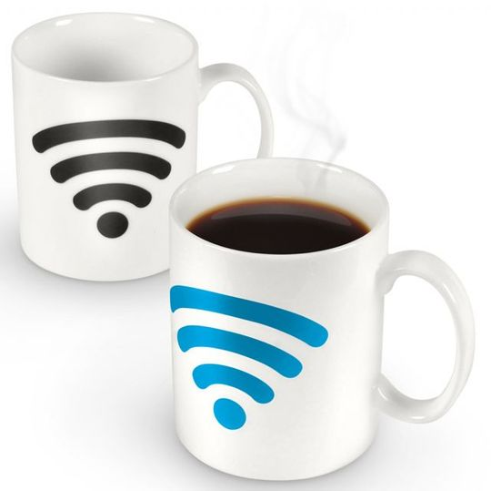 Термокружка Wi-Fi Hot Spot Остывшая и с горячим напитком
