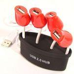 USB Хаб Букет роз (Черный)
