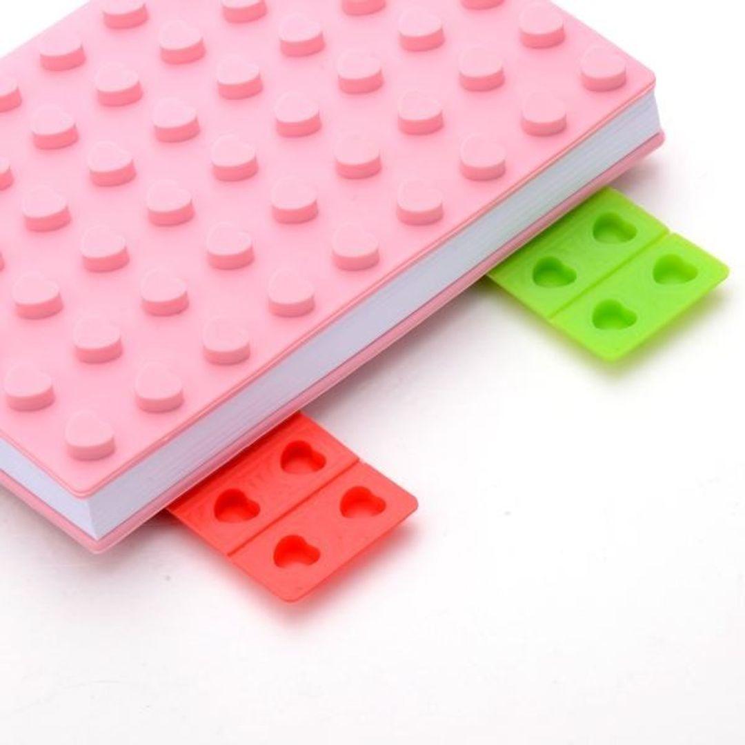 Блокнот Лего Маленький Розовый, сердечки