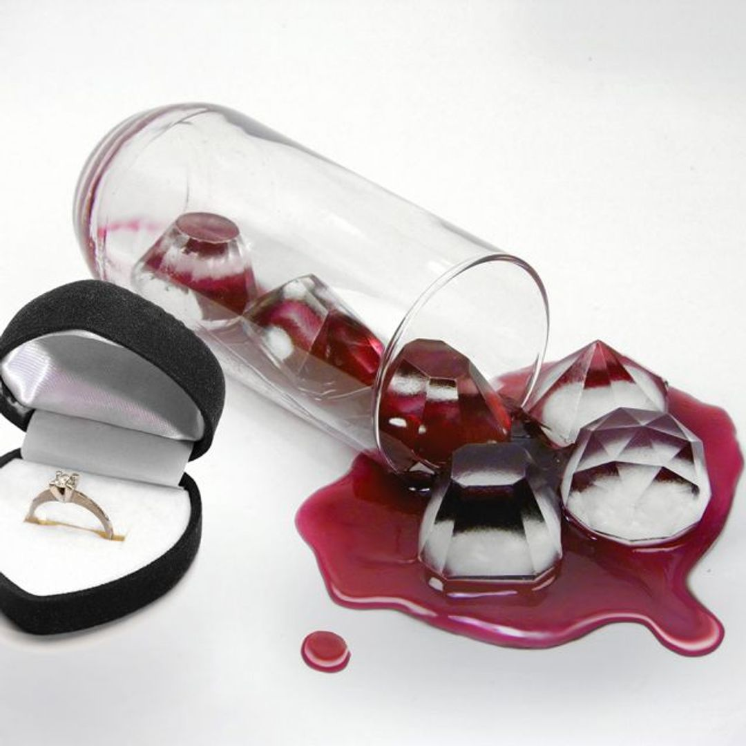 Форма для льда Алмазы Лед в стакане