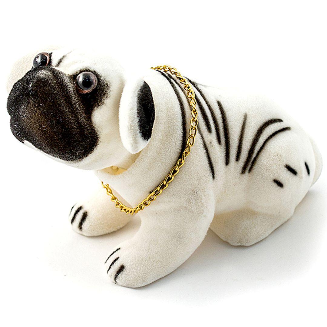 Кивающая собачка Бульдог (Белый)