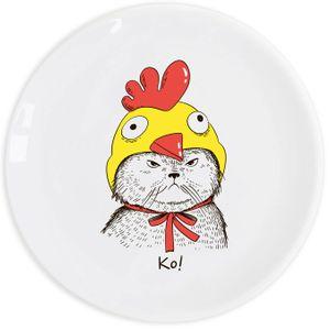 Тарелка Кот в костюме Ко