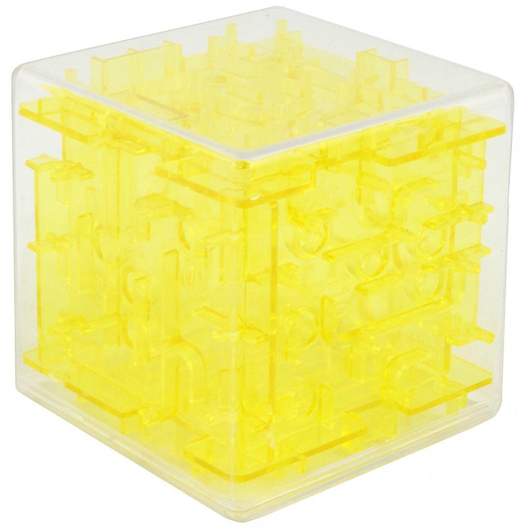 Головоломка Лабиринт Куб (Желтый)
