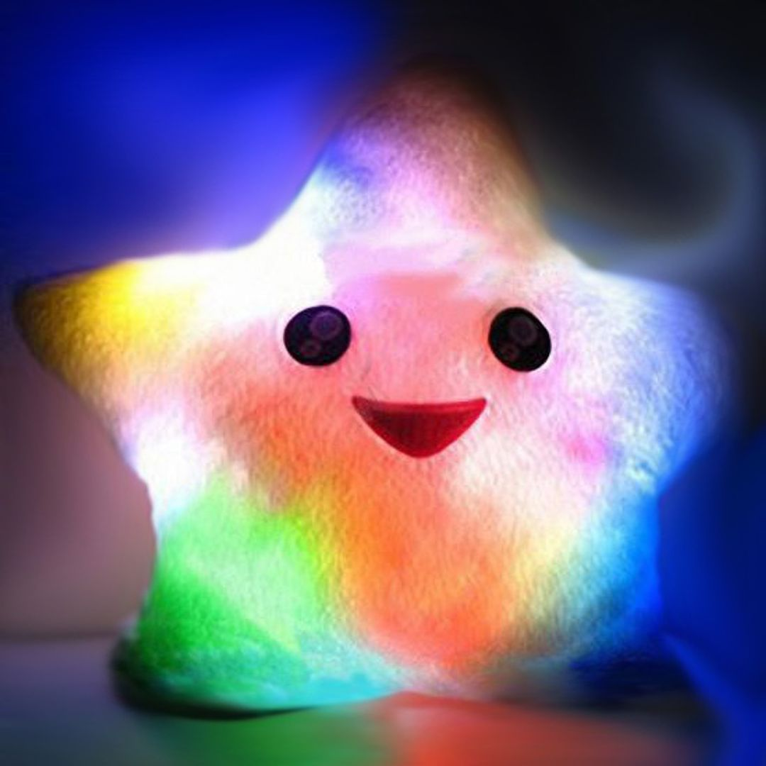 Светящаяся подушка Звездочка (Белая) С подсветкой