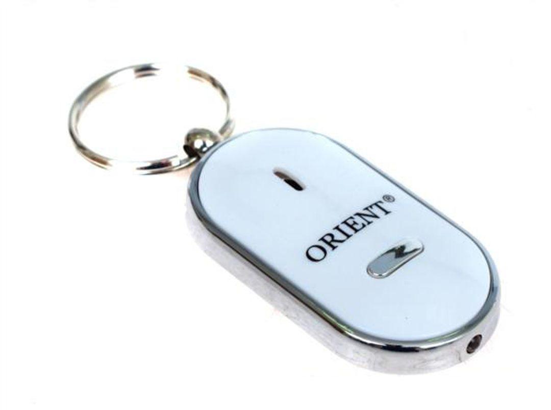 Брелок для поиска ключей с фонариком Белый