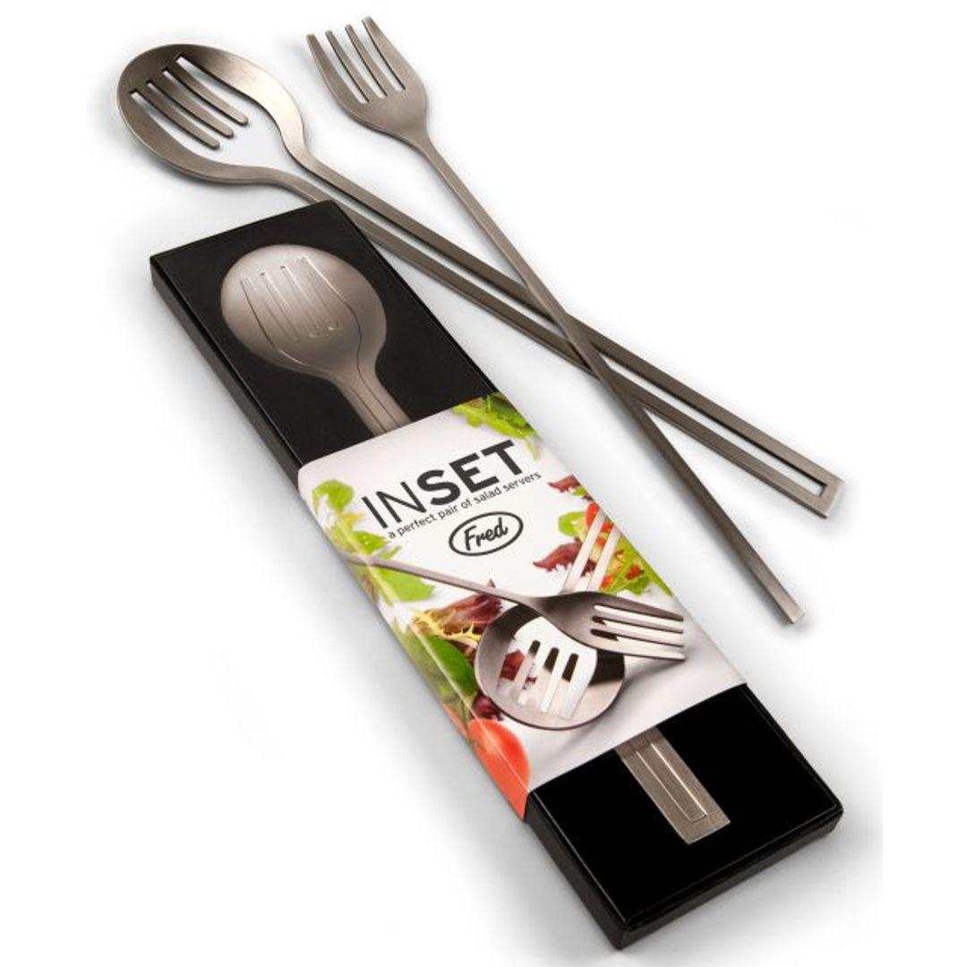 Ложка и вилка для салата InSet