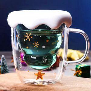 Кружка с двойным стеклом Елочка Christmas tree wishes mug