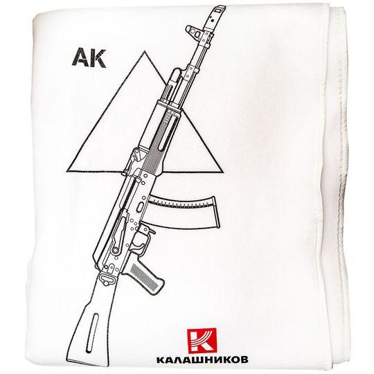 Плед АК-47 Калашников (Белый)