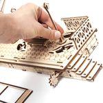 Механический 3D Пазл Ugears Перрон Поворот фонаря выдвигает знак Стоп