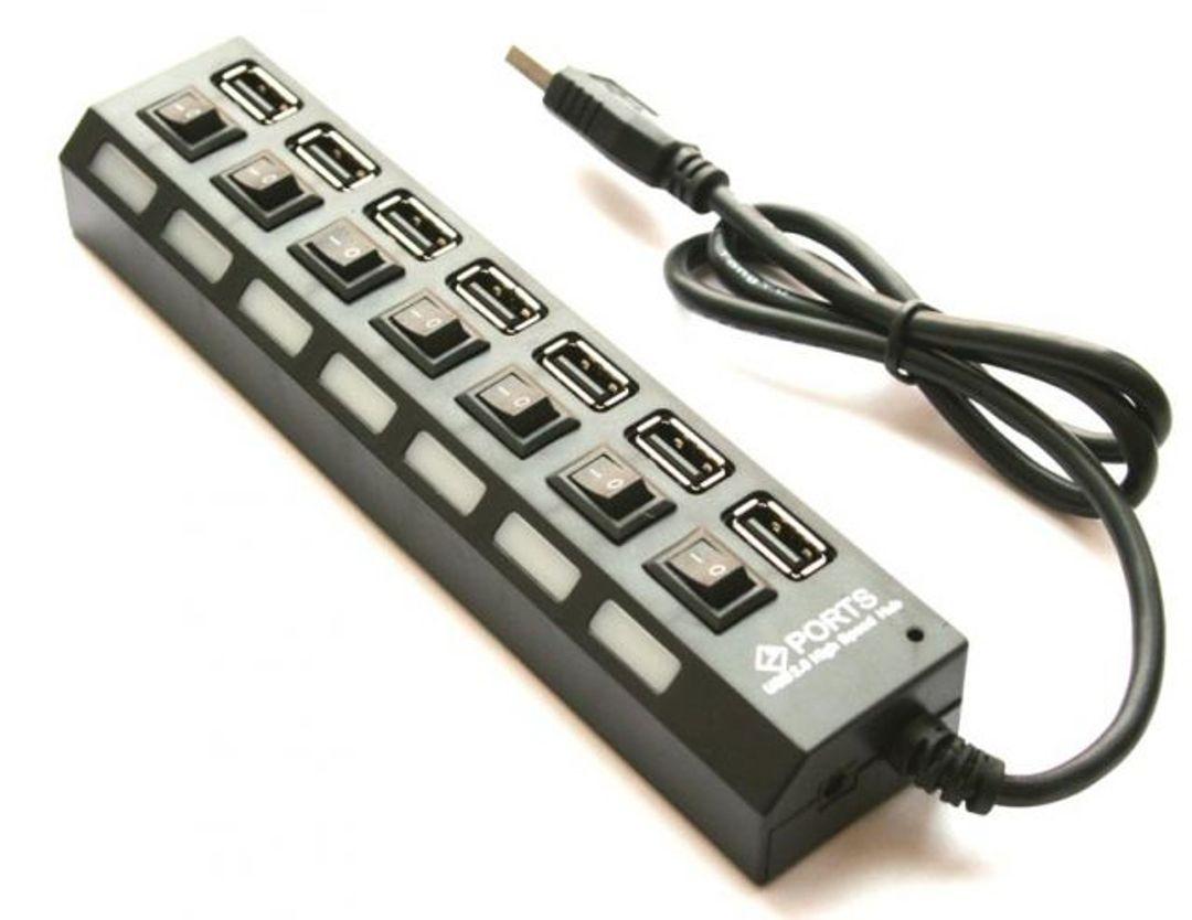 USB Хаб 7 портов с кнопками вкл\выкл