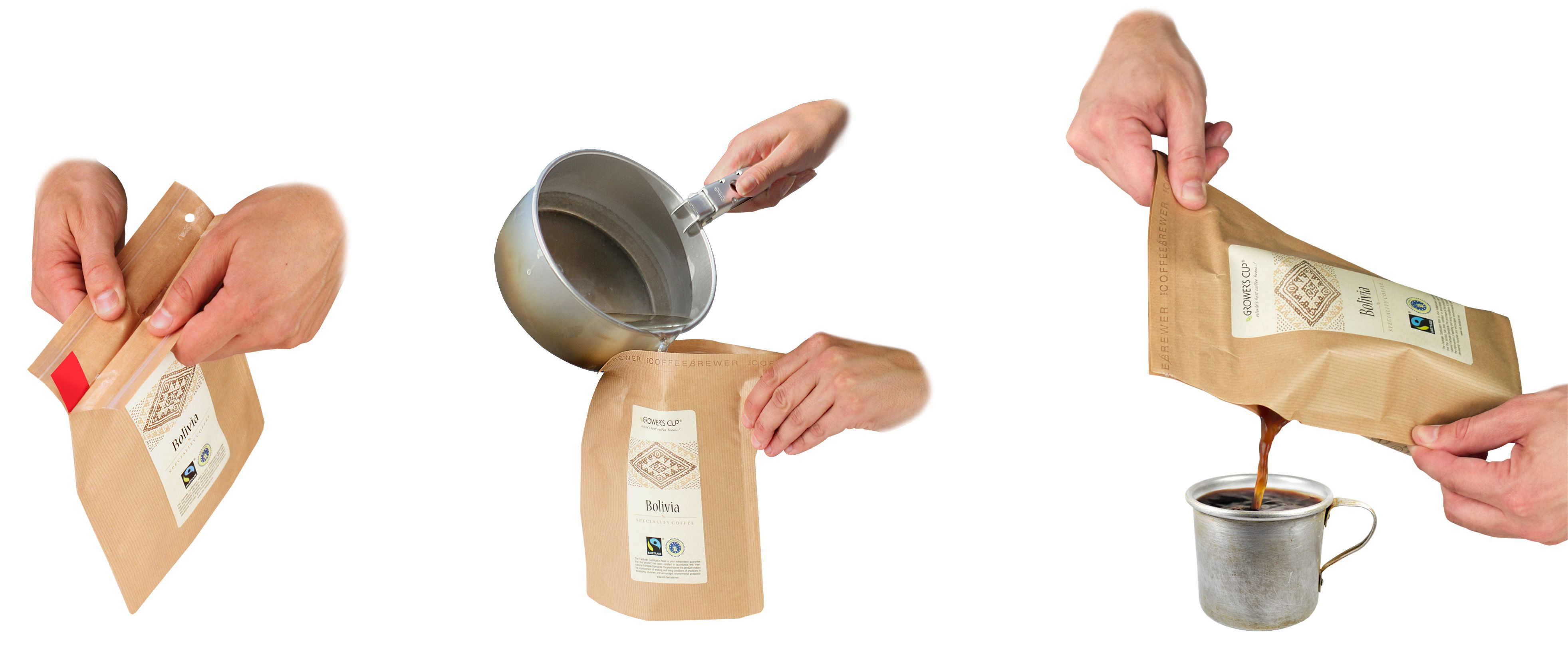 Как пользоваться бумажной кофеваркой Grower's Cup