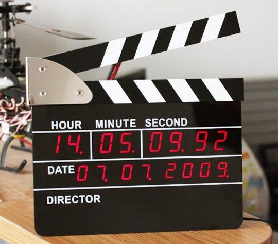Часы Режиссерская хлопушка мини
