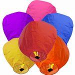 Летающий фонарик Разные цвета