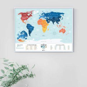Скретч-карта мира Travel Map Holiday Lagoon World (на английском)