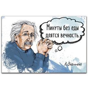 Магнит Эйнштейн Минуты без еды длятся вечность