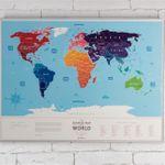 Скрэтч-карта мира Silver (на английском)
