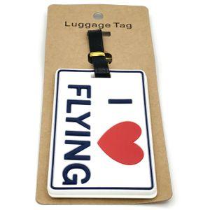 Бирка для багажа I love flying