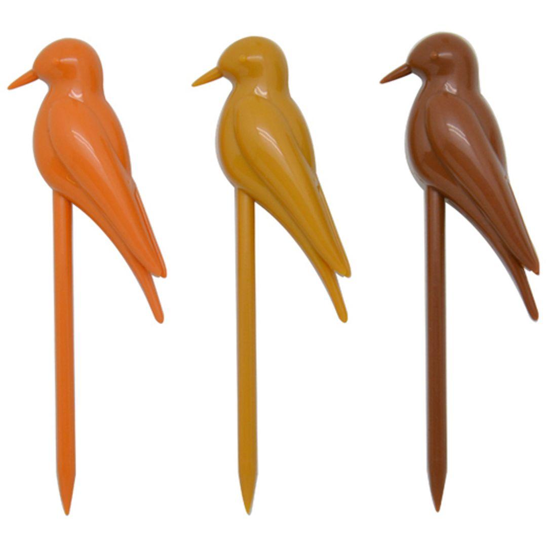 Шпажки для канапе Птички в клетке Три цвета, шесть шпажек