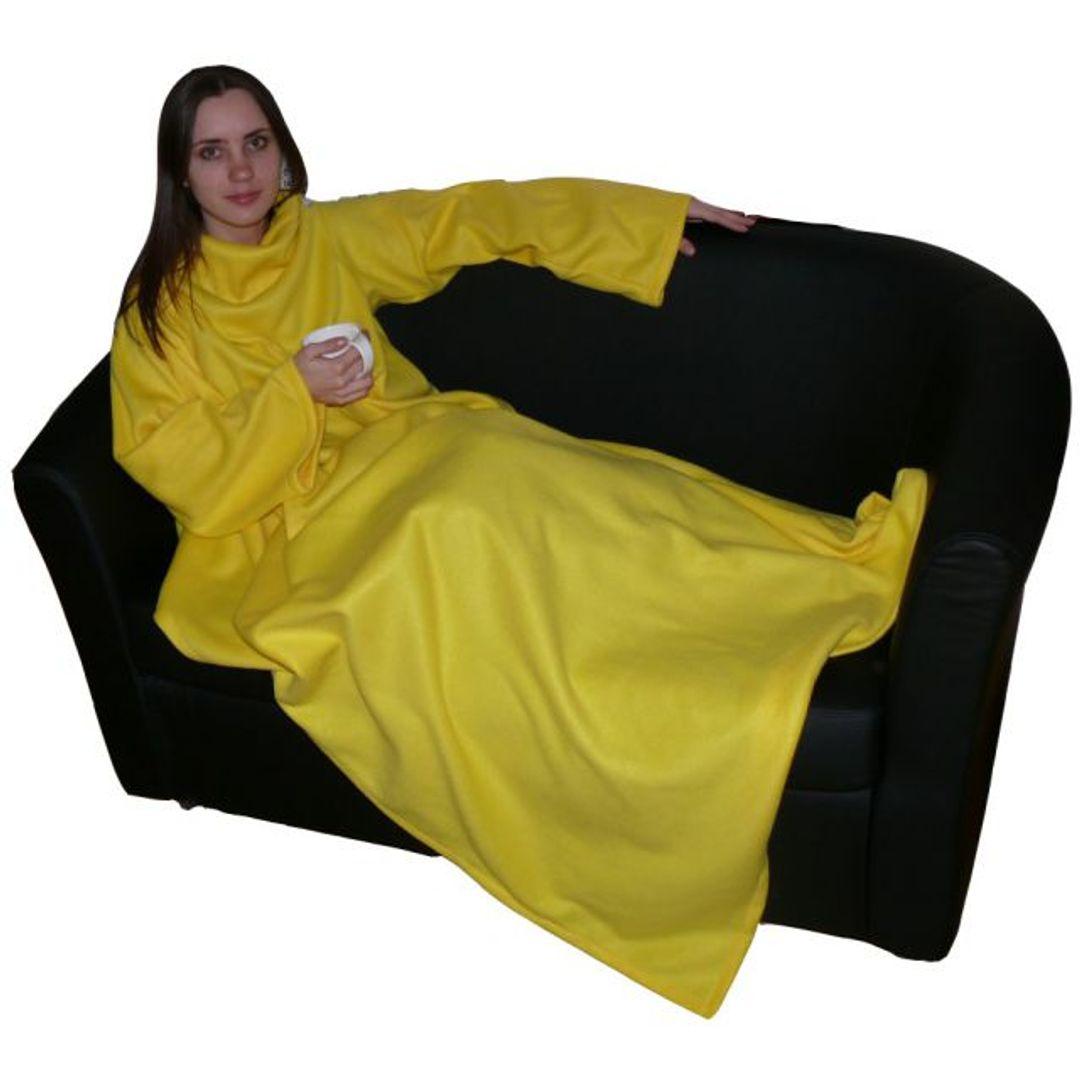 Плед с рукавами Желтый