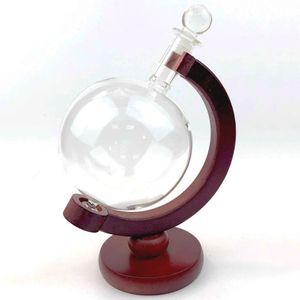 Декантер для напитков на деревянной подставке Глобус (0.5 л)