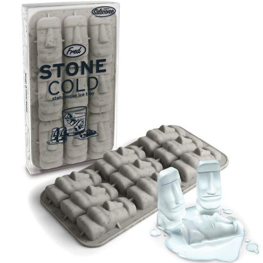Форма для льда Стоунхендж Stone Cold С упаковкой и льдинками из формы