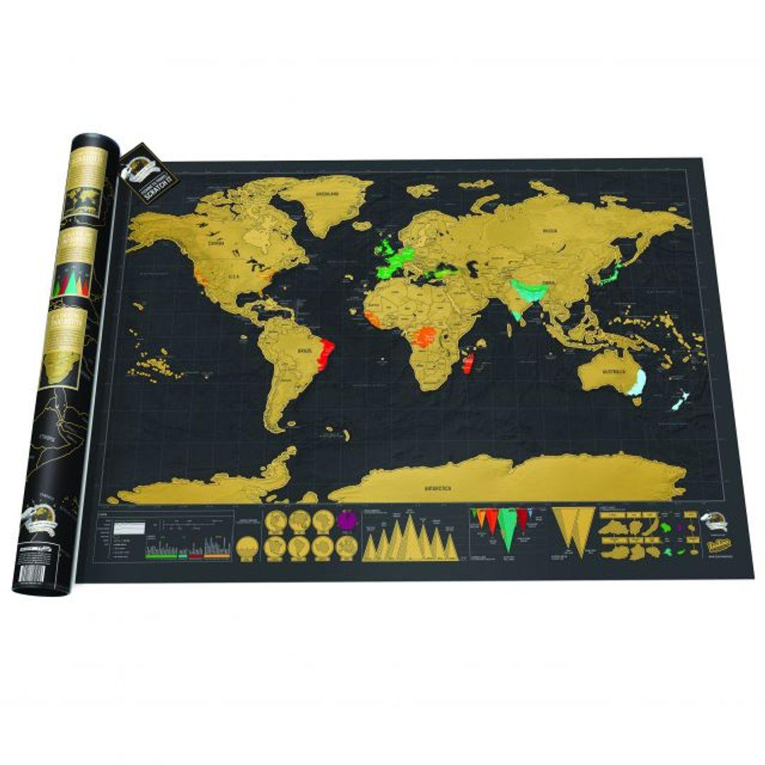 Скретч-карта мира Deluxe Edition (на английском)
