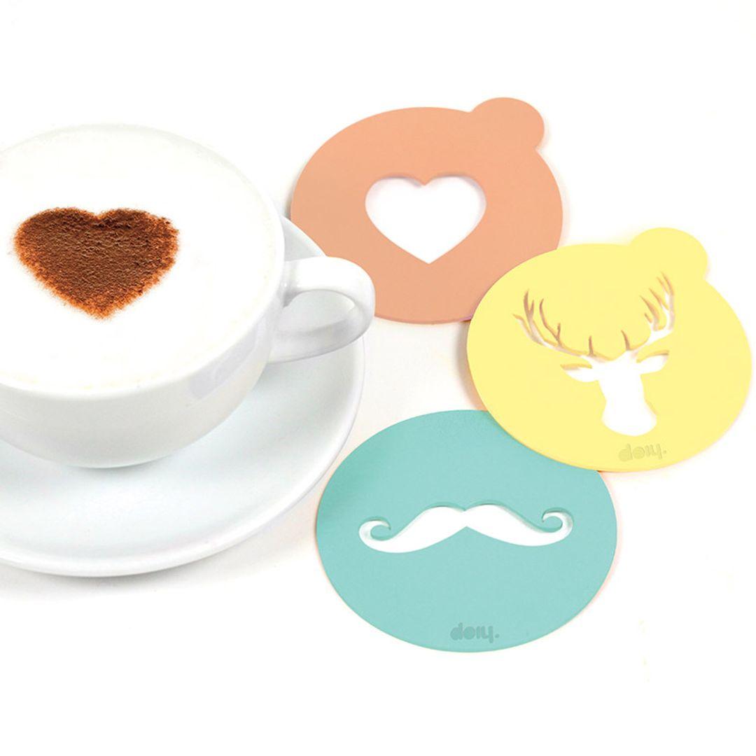 Набор трафаретов для кофе Hip coffee