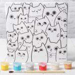 Набор для рисования по номерам Милые котята