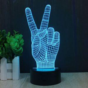 3D Лампа Мир Peace