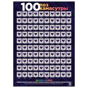 Скретч-постер 100 поз Камасутры
