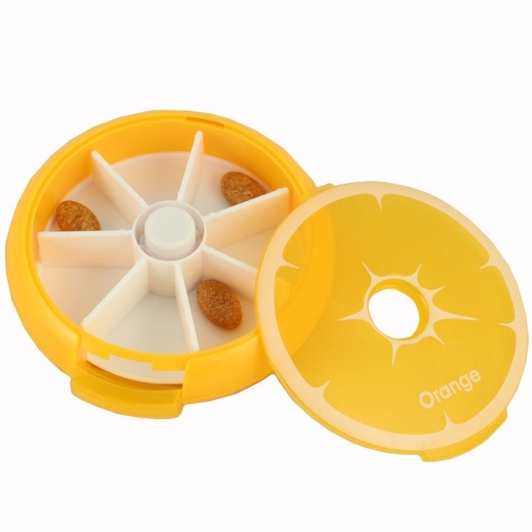 Таблетница Цитрус (Апельсин) Со снятой верхней крышкой