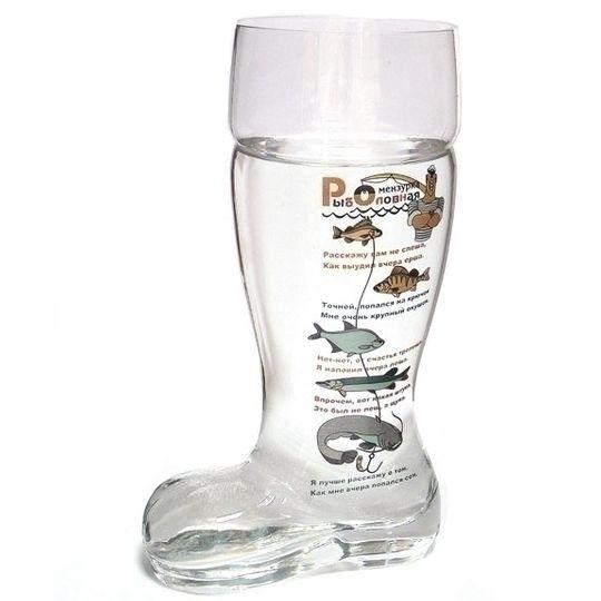 Пивной бокал-сапог Рыболовная мензурка