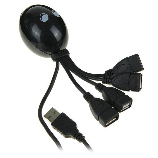 USB Хаб Осьминог (Черный)