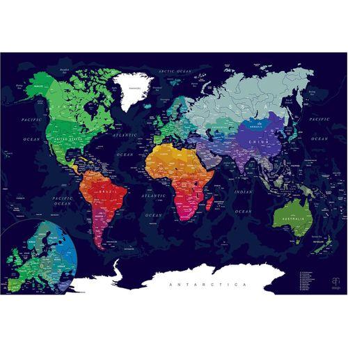Скретч-карта мира<br>Afi Design Blue