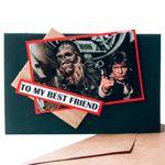 Открытка Star Wars Чубакка и Хан Соло