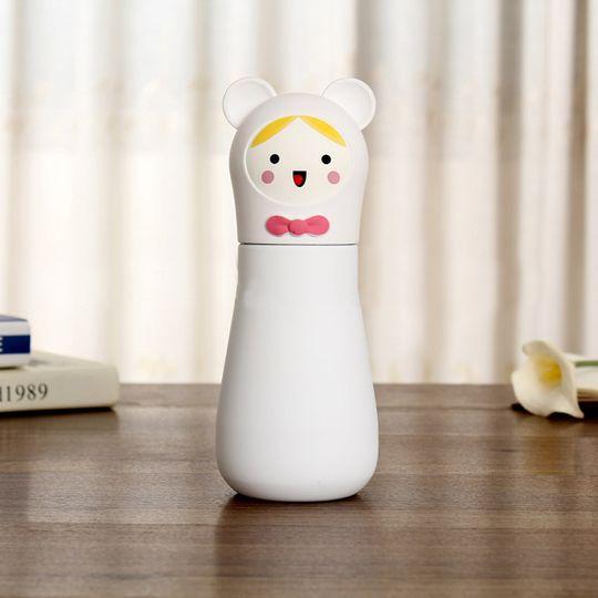 Кружка-термос Мишка Bear (Белый с белым)